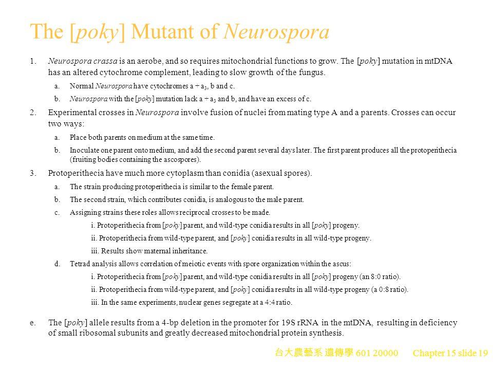The [poky] Mutant of Neurospora